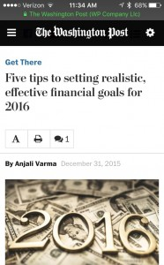 Tips For Setting Effective Personal Finance Goals in 2016